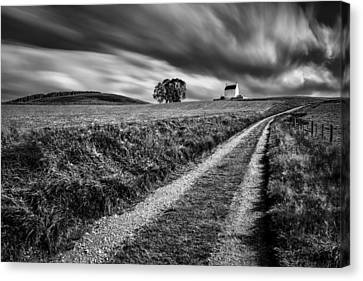 Tracks To Corgarff Castle Canvas Print