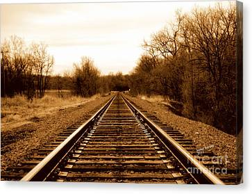 Tracks To No Where Canvas Print
