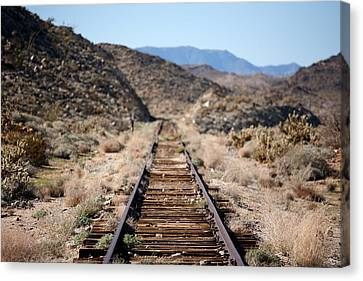 Tracks To Nowhere Canvas Print by Peter Tellone