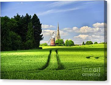 Tracks To The Mill Canvas Print by Jack Torcello