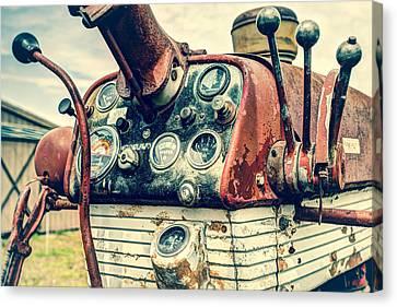 Tractor Dash - Farmall 560 Diesel Canvas Print by Gary Heller