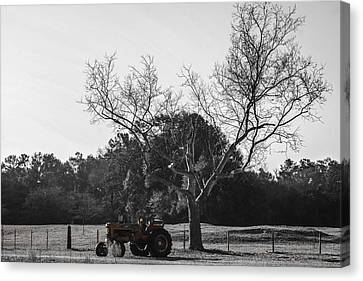 Tractor For Sale Canvas Print by Steven  Taylor