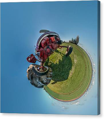 Tractor In A Field, Everett, Snohomish Canvas Print by Panoramic Images