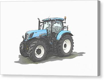 Tractor Canvas Print by Roger Lighterness