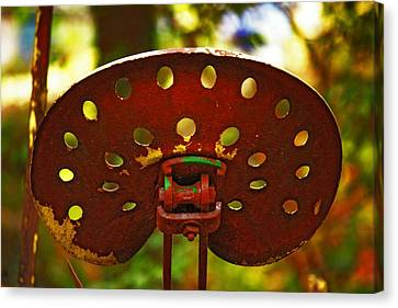 Tractor Seat Canvas Print by Rowana Ray