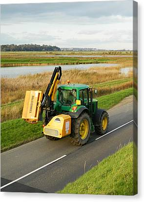 Tractor Canvas Print by Sharon Lisa Clarke