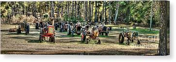 Tractor Yard Canvas Print by Baltzgar