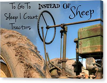 Tractors Not Sheep Canvas Print by Heather Allen