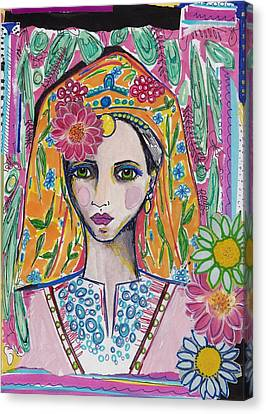 Traditional Bulgarian Folk Girl Canvas Print