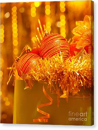 Toy Shop Canvas Print - Traditional Christmas Decoration by Anna Om