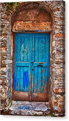 Traditional Door 2 Canvas Print by Emmanouil Klimis