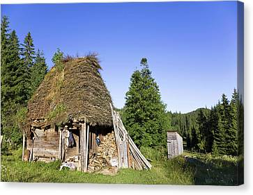 Traditional Farm House In The Apuseni Canvas Print by Martin Zwick