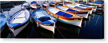 Traditional Fishing Boats Canvas Print by Panoramic Images