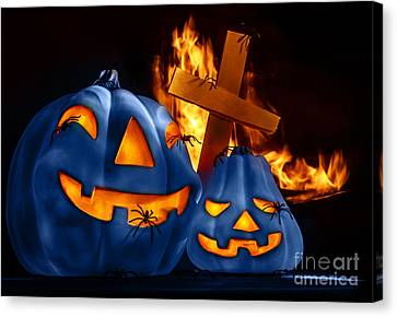 Traditional Halloween Decorations Canvas Print