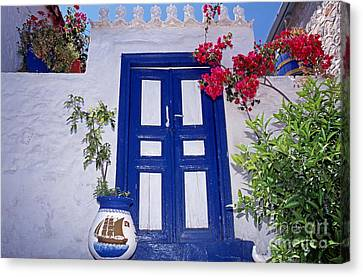 Traditional House In Hydra Island Canvas Print