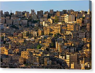 Traditional Houses In Amman, Jordan Canvas Print by Keren Su