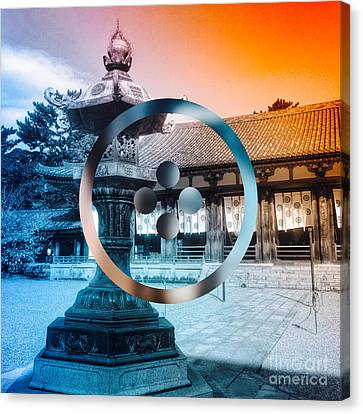 Traditional Japanese Garden Lantern Canvas Print