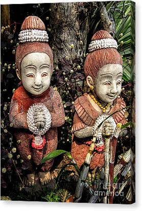 Ceramic Canvas Print - Traditional Thai Welcome by Adrian Evans