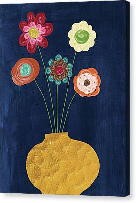 Traditional Whimsy Bouquet Canvas Print by Alli Rogosich