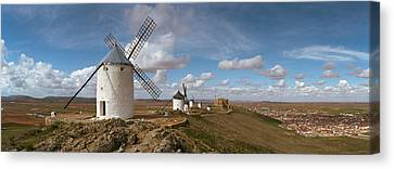 Traditional Windmill On A Hill Canvas Print by Panoramic Images