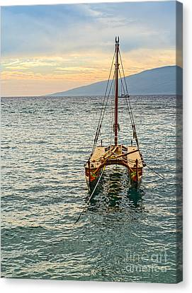 Canoe Canvas Print - Traditions At Sea by Jamie Pham