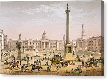 Trafalgar Square, C.1862 Canvas Print by Achille-Louis Martinet