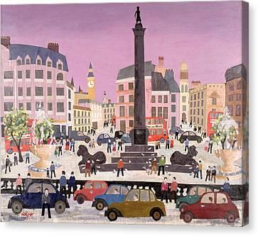 Trafalgar Square Collage Canvas Print
