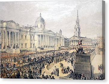 Trafalgar Square, From A Memorial Canvas Print by English School