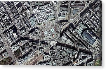 Trafalgar Square Canvas Print by Getmapping Plc