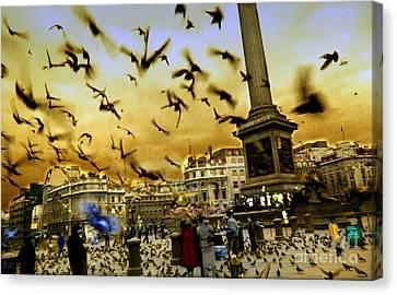 Trafalgar Square Canvas Print by Jeff Breiman