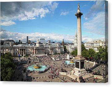Trafalgar Square Canvas Print by Mark Thomas
