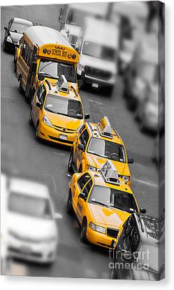 Traffic Canvas Print by Delphimages Photo Creations