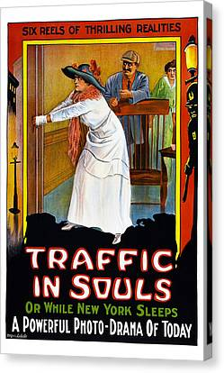 Traffic In Souls, Us Poster, 1913 Canvas Print