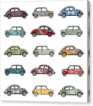 Volkswagon Canvas Print - Traffic Jam by Sarah Hough