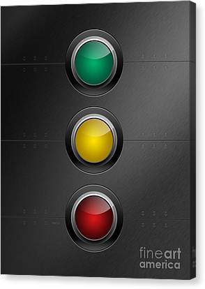 Traffic Lights Canvas Print by Phil Perkins