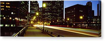 Boston Bridges Canvas Print - Traffic On A Bridge In A City, Northern by Panoramic Images