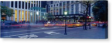 Traffic On The Road, Fifth Avenue Canvas Print
