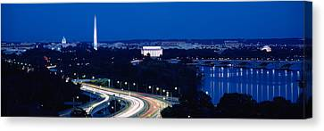 Traffic On The Road, Washington Canvas Print by Panoramic Images