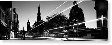 Traffic On The Street, Princes Street Canvas Print by Panoramic Images