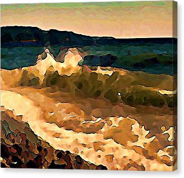 Trail Bay Wave Canvas Print