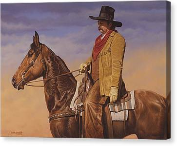 Canvas Print featuring the painting Trail Boss by Ron Crabb