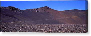 Trail In Volcanic Landscape, Sliding Canvas Print