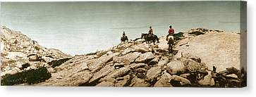 Canvas Print featuring the photograph Trail Ride One by Ron Crabb