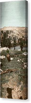 Canvas Print featuring the photograph Trail Ride Three by Ron Crabb