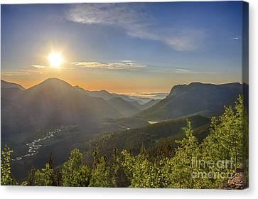 Trail Ridge Road Sunrise Canvas Print