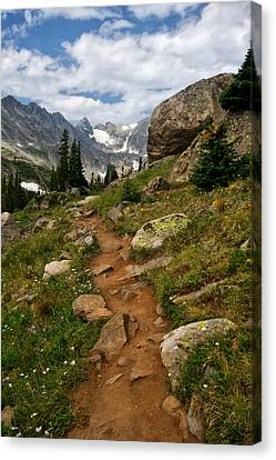 Canvas Print featuring the photograph Trail To Lake Isabelle by Ronda Kimbrow