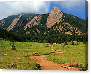 Trail To The Flatirons Canvas Print
