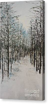 Trail To The Wood Lot Canvas Print