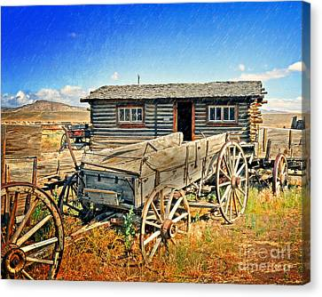 Canvas Print - Trail Town 6 by Marty Koch
