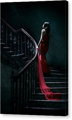 Red Dress Canvas Print - Trail by Cambion Art